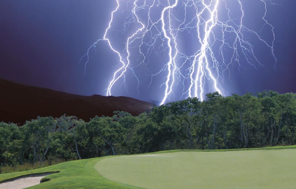Golf und Gewitter?